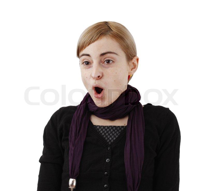 Frau überrascht | Stock Bild | Colourbox