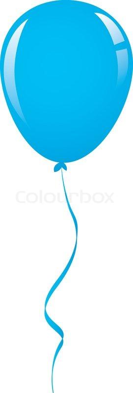 Vector blue balloon ribbon | Stock Vector | Colourbox