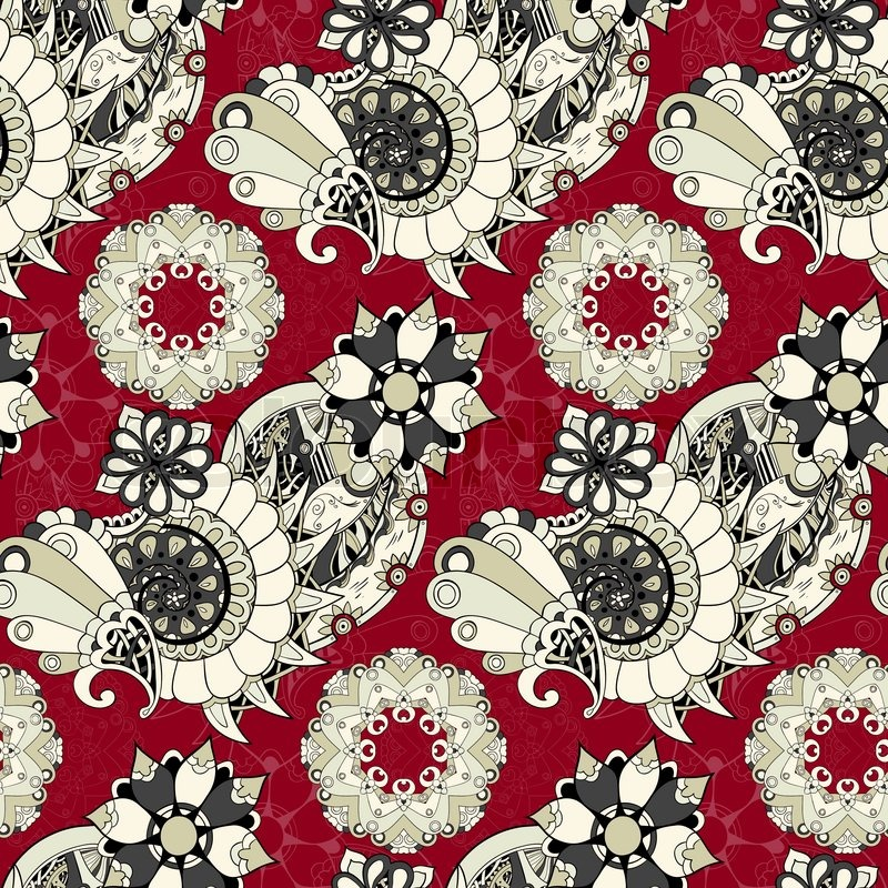 Floral Mechanism Steampunk Seamless Vector Pattern Can Be Used For Wallpaper  Pattern Fills  Web