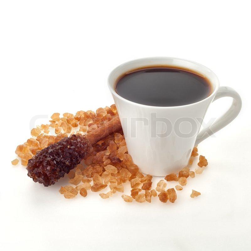 kaffeetasse mit zimt zucker stick stockfoto colourbox. Black Bedroom Furniture Sets. Home Design Ideas