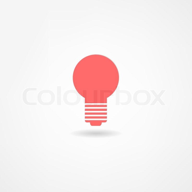 Glühbirne-Symbol | Vektorgrafik | Colourbox