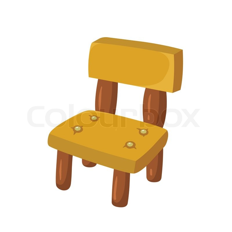 Stühle clipart  Stuhl Holz | Vektorgrafik | Colourbox