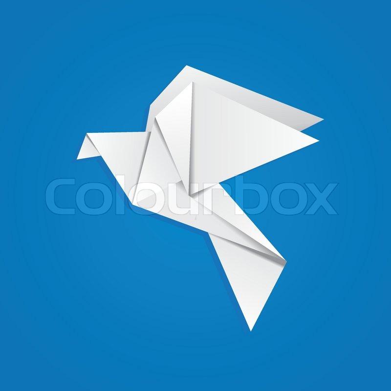 origami pigeon stock vector colourbox