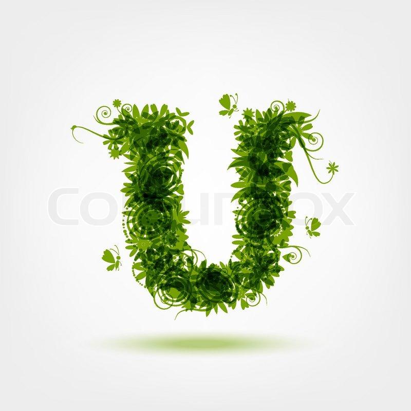 Green eco letter...U Letter Design