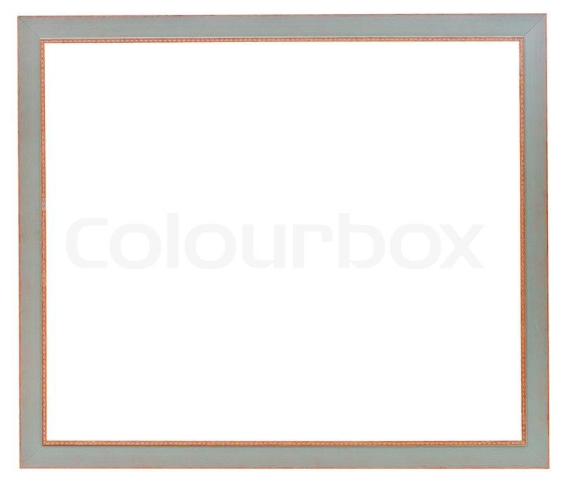 Einfache graue schmale flache Bilderrahmen | Stockfoto | Colourbox