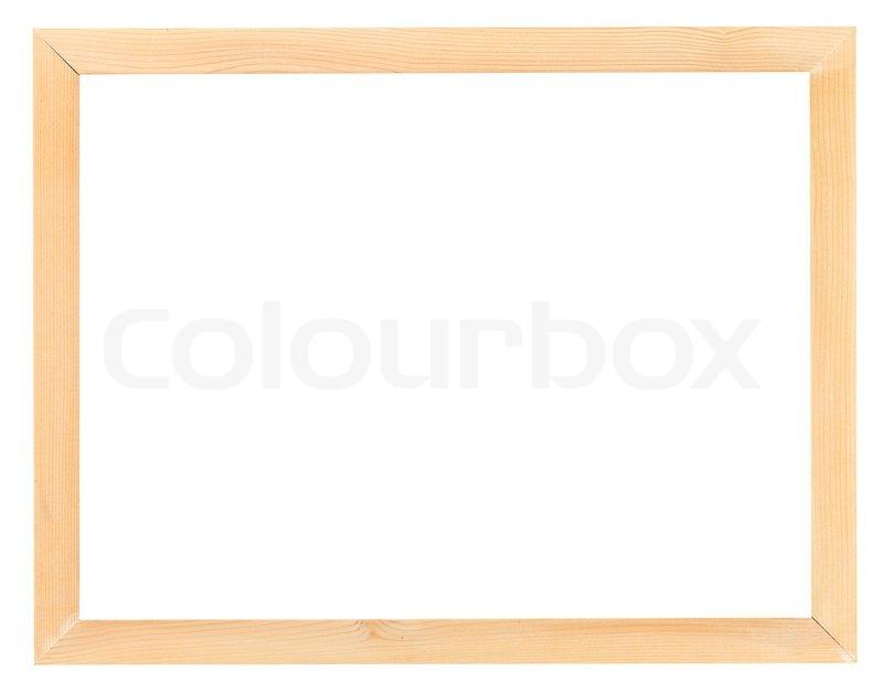 Moderne schmale helle Holz Bilderrahmen | Stockfoto | Colourbox