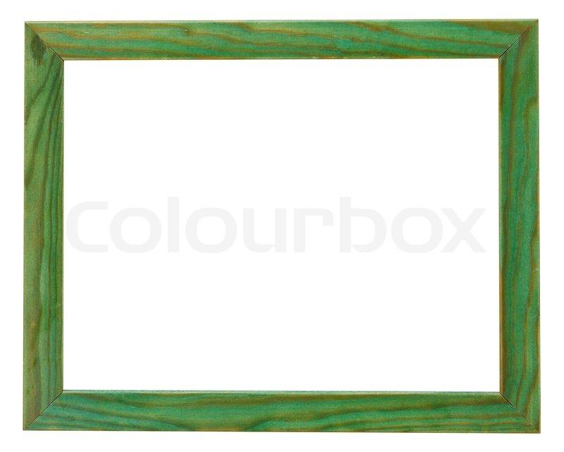 schmale flache gr ne bilderrahmen stockfoto colourbox. Black Bedroom Furniture Sets. Home Design Ideas