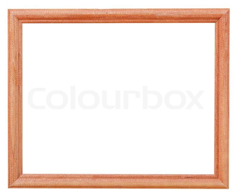 Schmale braun einfache Bilderrahmen | Stockfoto | Colourbox
