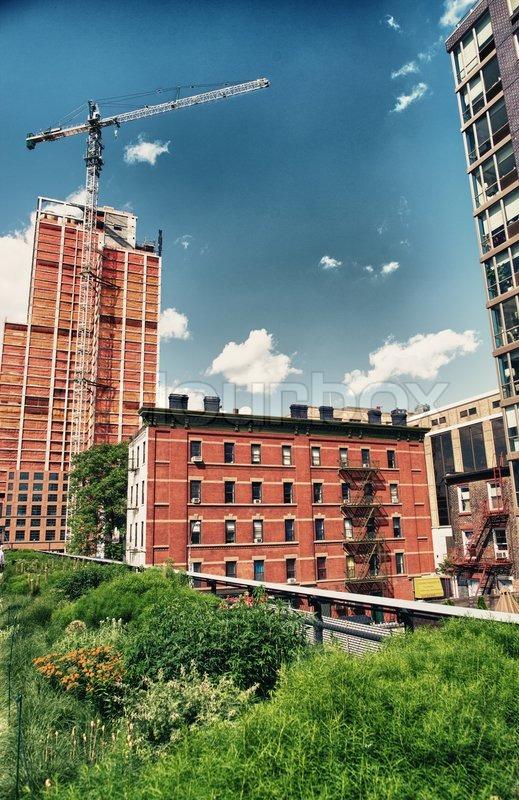 The High Line Park in Manhattan - New York City, stock photo