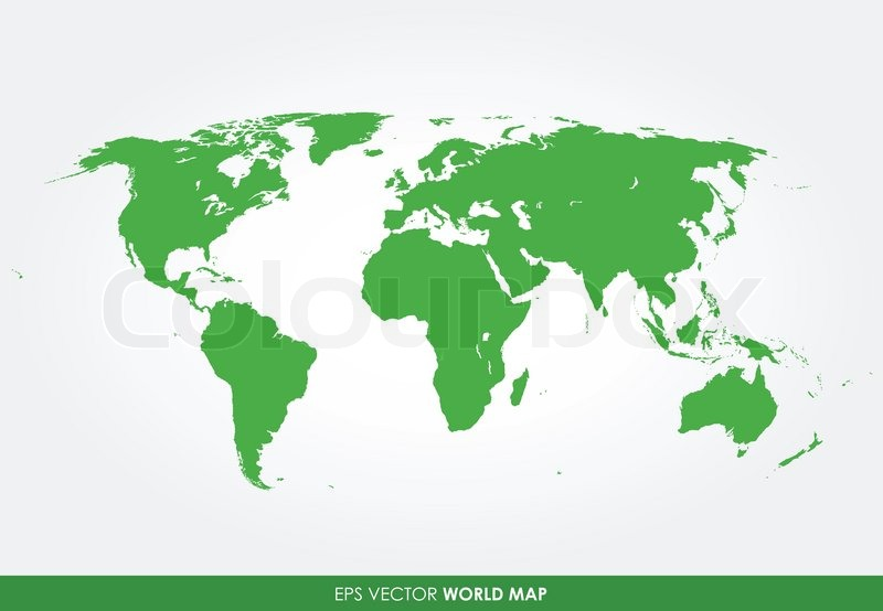 Detaillierte weltkarte vektorgrafik colourbox - Mappa del mondo contorno ks2 ...