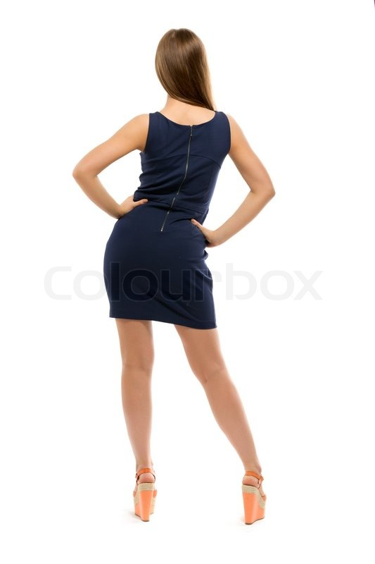 Фото девушек в коротких платьях вид сзади