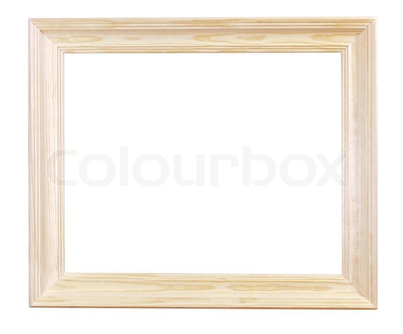 Breite leichte Holz Bilderrahmen | Stockfoto | Colourbox