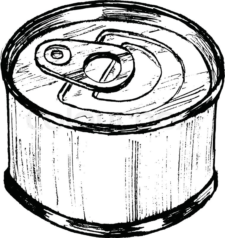 Canned Food Clipart Black And White