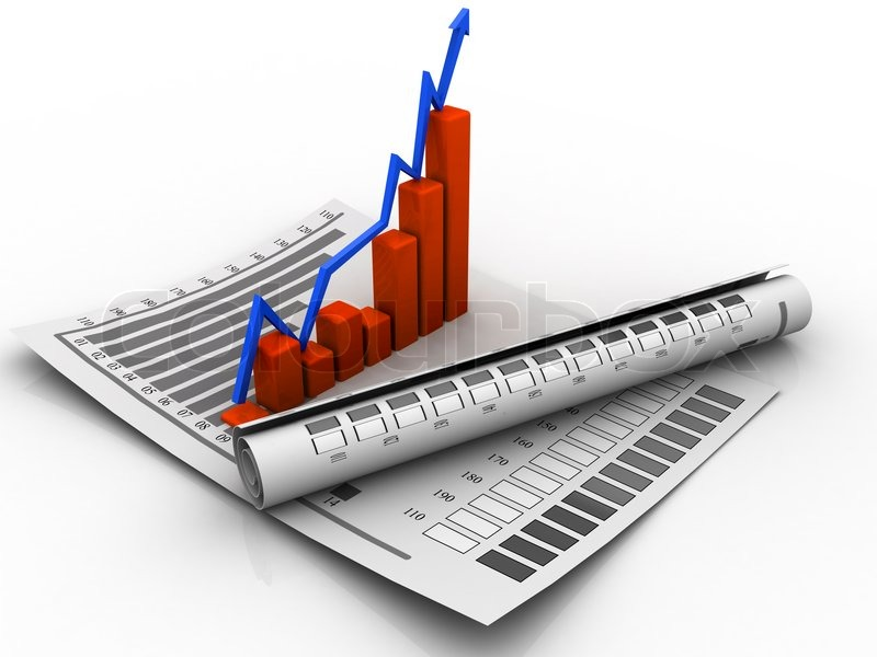 3d business growth graph | Stock image | Colourbox