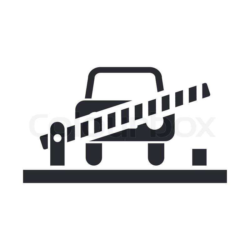Vektor-Illustration der einzelnen Rahmen-Auto-Symbol   Vektorgrafik ...