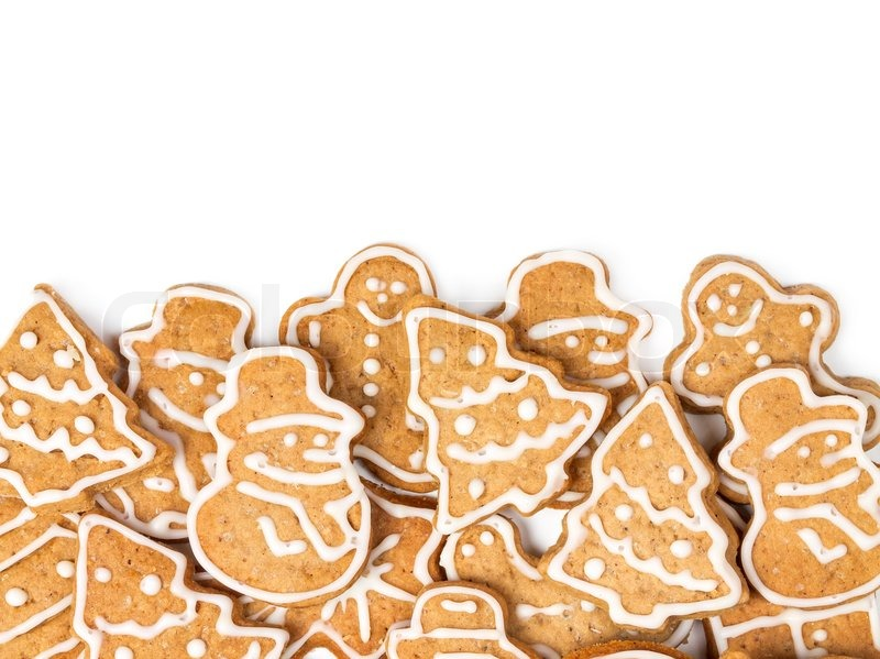 Christmas Cookies Different Form On A Stock Image Colourbox