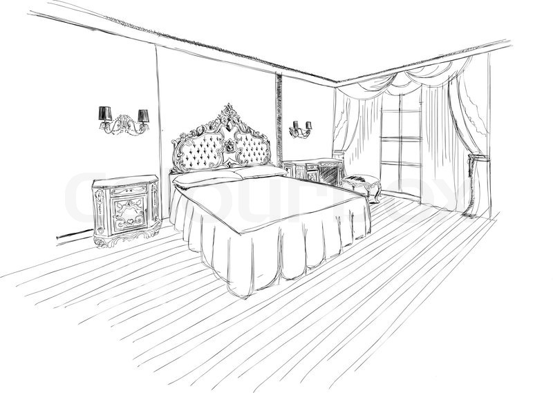 cartoon black and white living room with Classic Bedroom Interior Designed In Black And White Graphics Vector 7351519 on 5963 furthermore A Wondering Miniature Poodle also Members Of The Family Clipart Black And White together with Illustration Of An Outline Sketch Of A Interior 3d Graphical Drawing Interior Image 7536996 also Stock Illustration Women Watching Television Black.