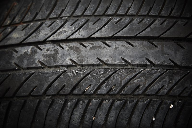 Goodyear Car >> Textured pattern of used car tire | Stock Photo | Colourbox