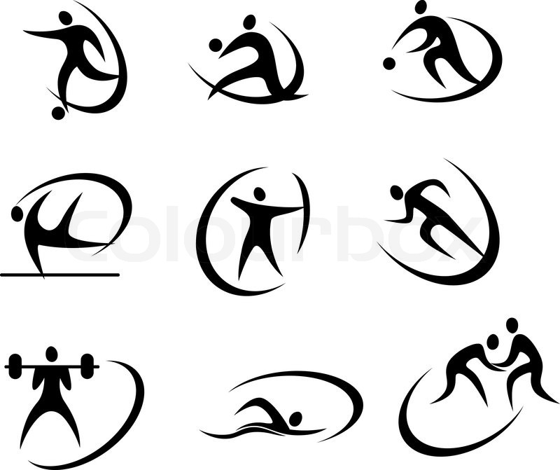 Different Kinds Of Sports Symbols For Competition And Tournament