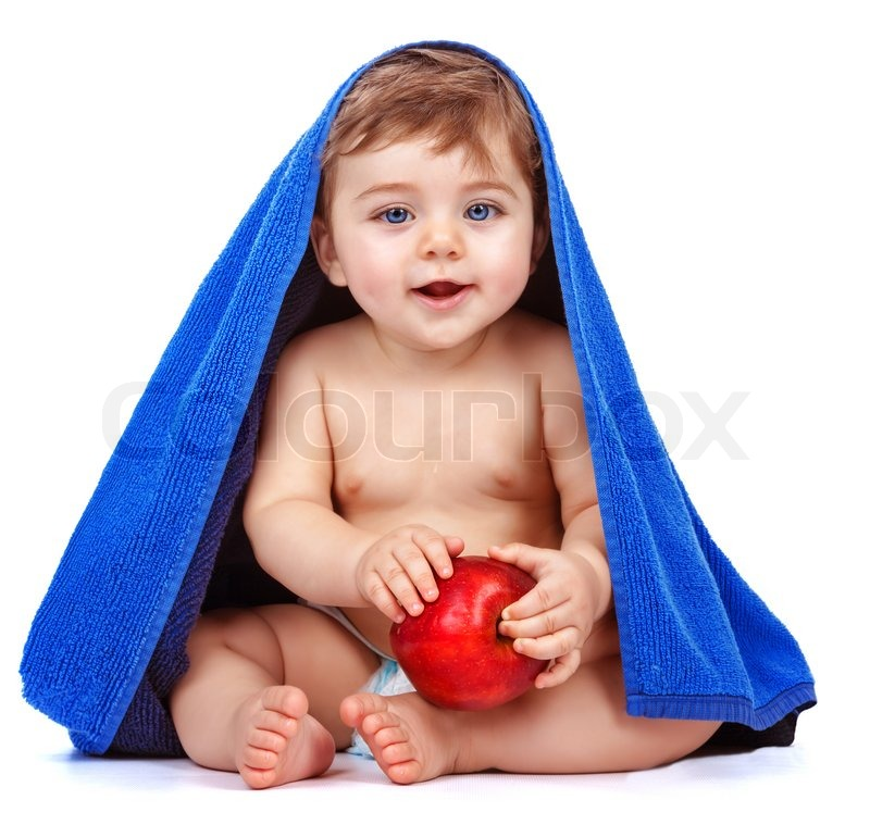 Baby Food Manufacturers Companies In Philippines Mail: Cute Baby Boy Eating Apple