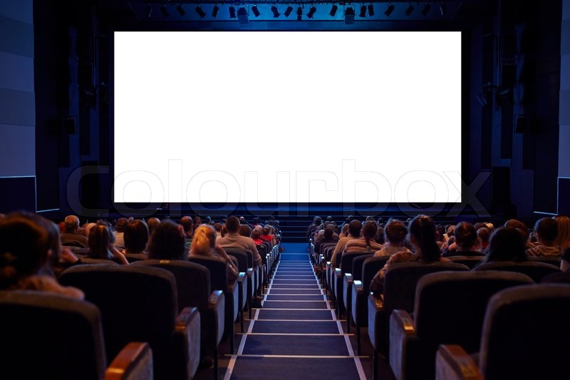 empty cinema screen with audience ready for adding your picture screen has crisp borders. Black Bedroom Furniture Sets. Home Design Ideas