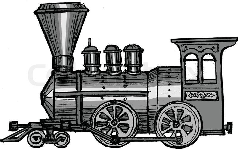 Vintage Steam Train Stock Vector Colourbox