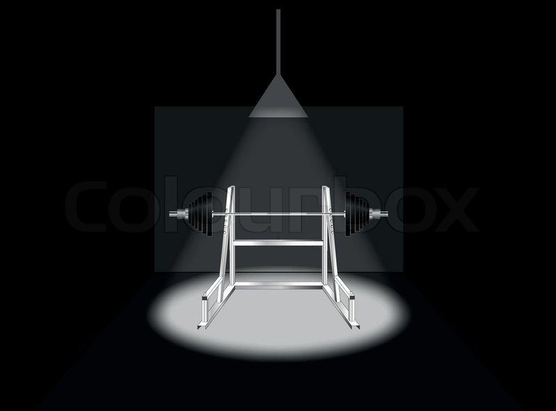 Abkürzung Für Stab In Einem Dunklen Stock Vektor Colourbox