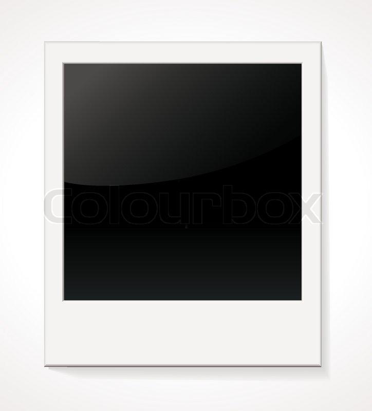 empty shiny photo frame polaroid isolated on white background rh colourbox com polaroid vector illustration polaroid vector image