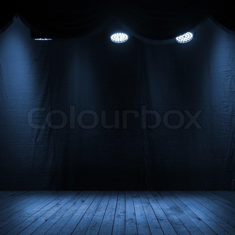 Dunkle Blaue Szene Innenraum Mit Stockfoto Colourbox