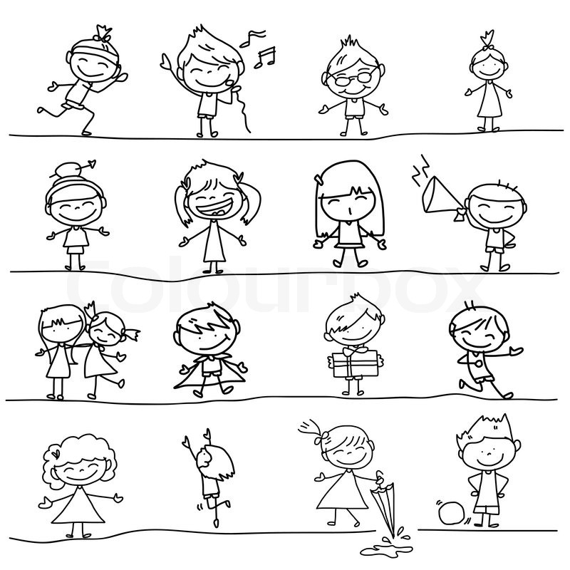 how to draw a kid playing