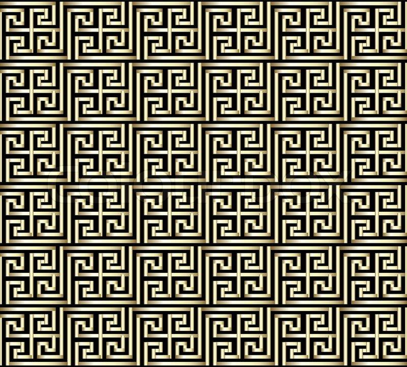 Seamless Golden Greek Key Pattern | Stock Vector | Colourbox
