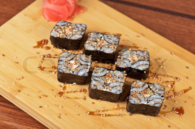 Суши с кунжутом рецепт с фото