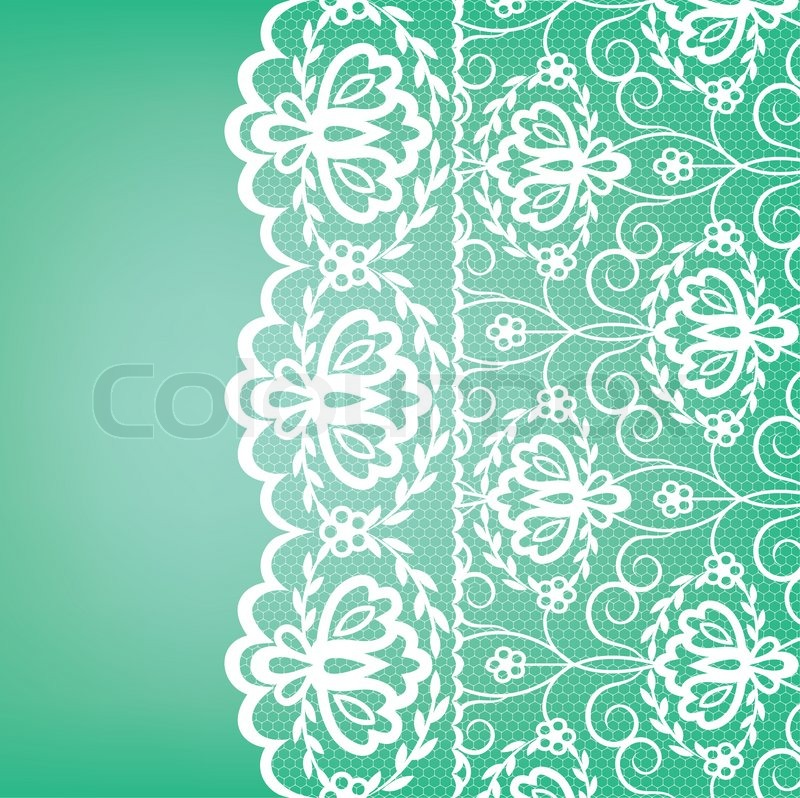 Template for wedding, invitation or greeting card with lace fabric ...