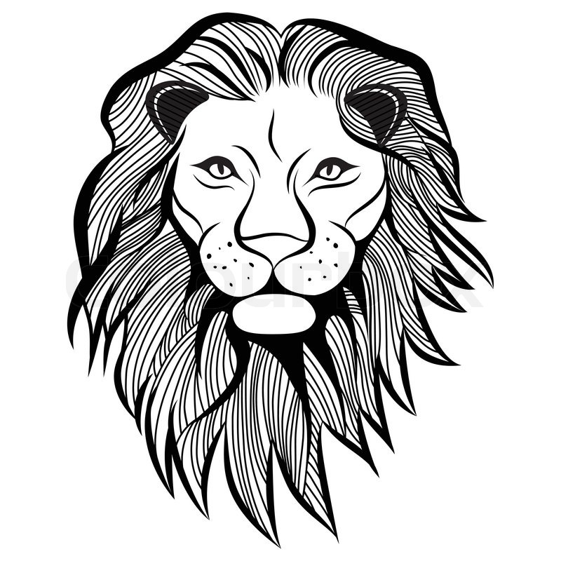 lion head vector animal illustration for t shirt sketch tattoo design stock vector colourbox. Black Bedroom Furniture Sets. Home Design Ideas
