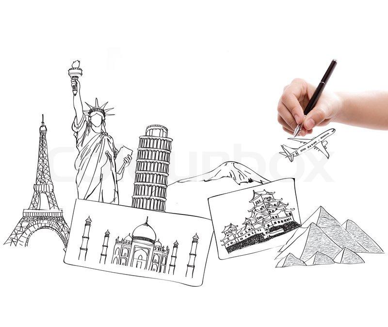 Drawing Travel Around The World