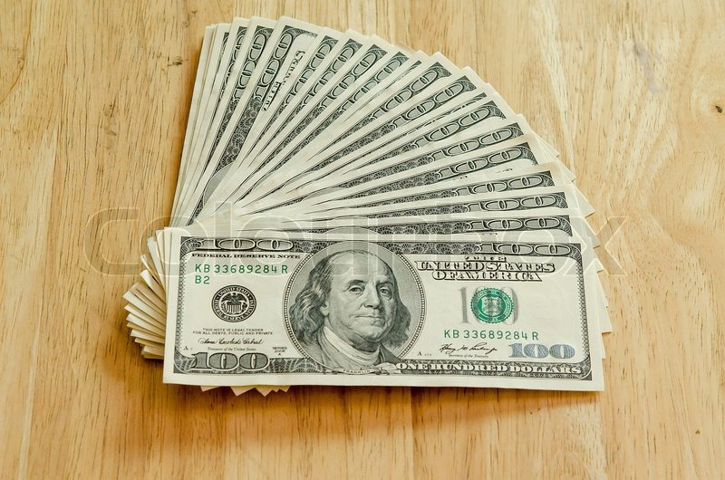 Stack of one hundred dollar bills stock photo colourbox for 200 thousand dollar homes