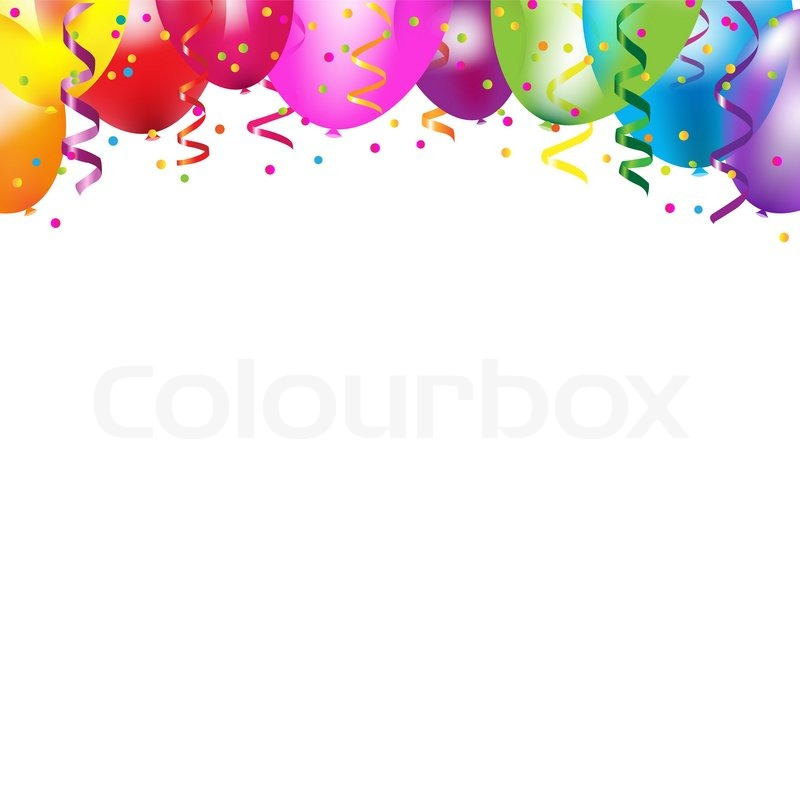 Rahmen mit bunten Luftballons | Vektorgrafik | Colourbox
