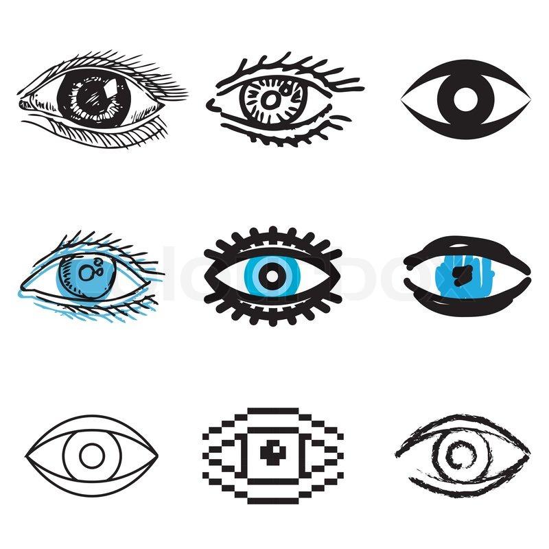 Menschliche Auge Icons | Vektorgrafik | Colourbox