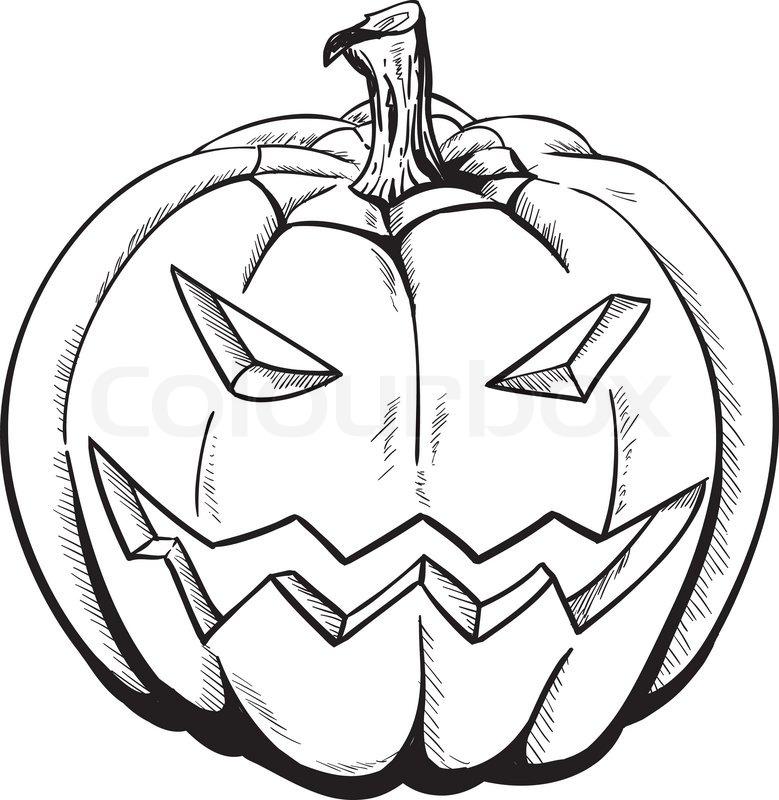 Sketch Pumpkin | Stock Vector | Colourbox