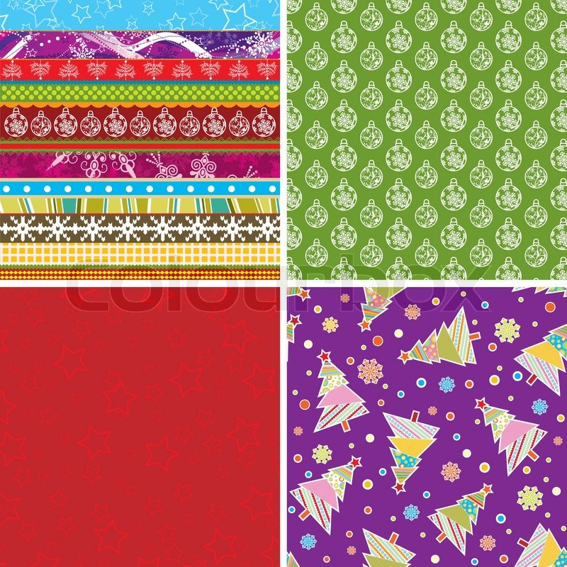 scrapbook weihnachten muster f r design vektor illustration vektorgrafik colourbox. Black Bedroom Furniture Sets. Home Design Ideas