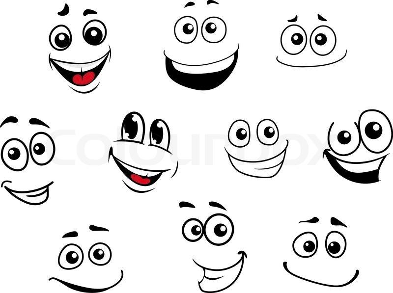 Lustige Cartoon Emotionale Vektorgrafik Colourbox