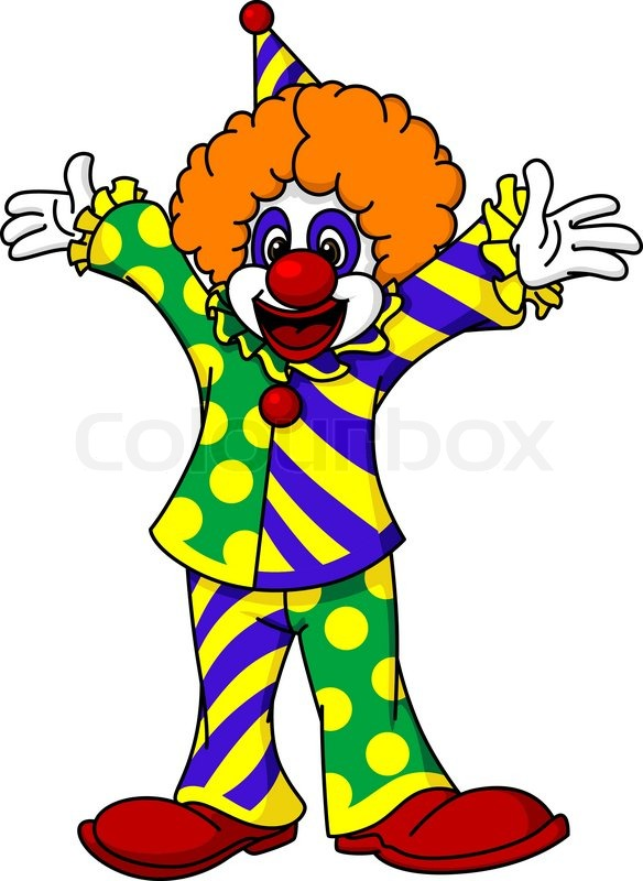 Circus Clown Stock Vector Colourbox