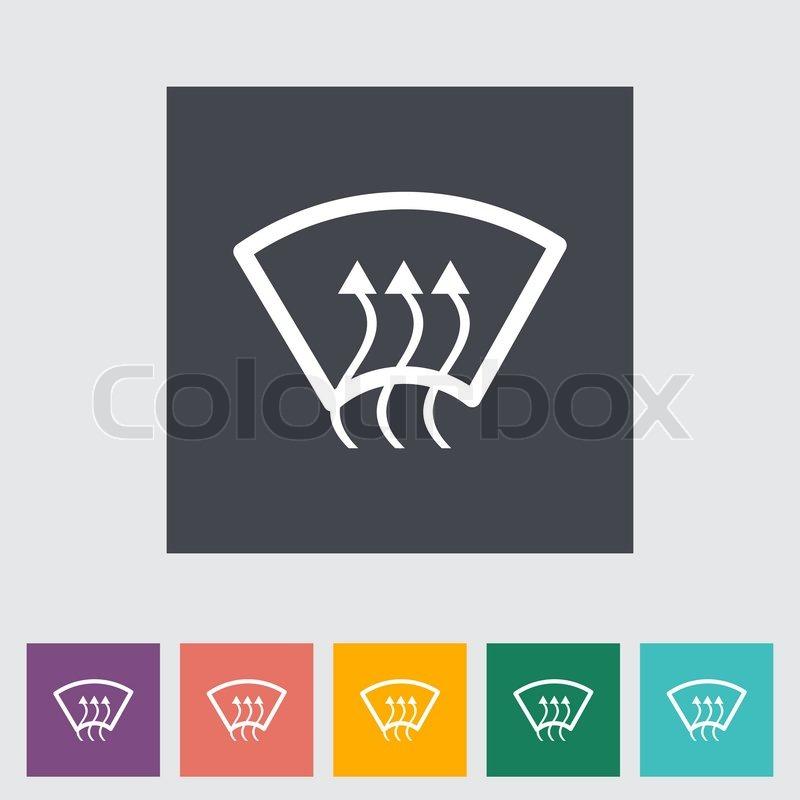 Heizung Glas einzelnes Symbol | Vektorgrafik | Colourbox