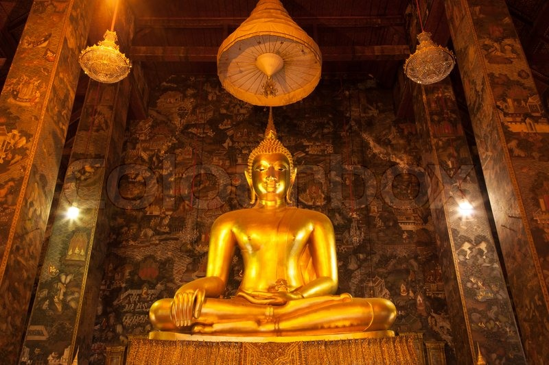 Buddha meditation. temple in thailand. The famous attractions of Thailand, stock photo
