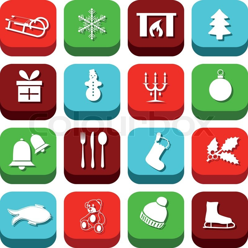 weihnachts icons vektorgrafik colourbox. Black Bedroom Furniture Sets. Home Design Ideas