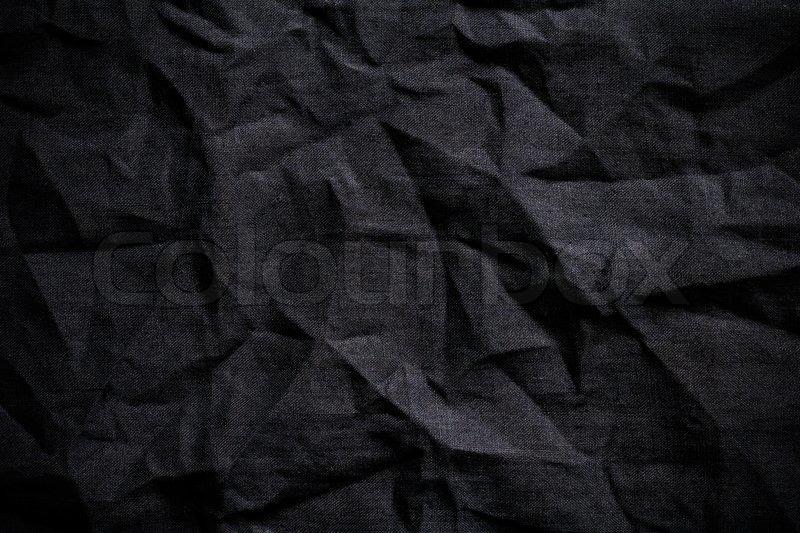 Dark fabric background, stock photo