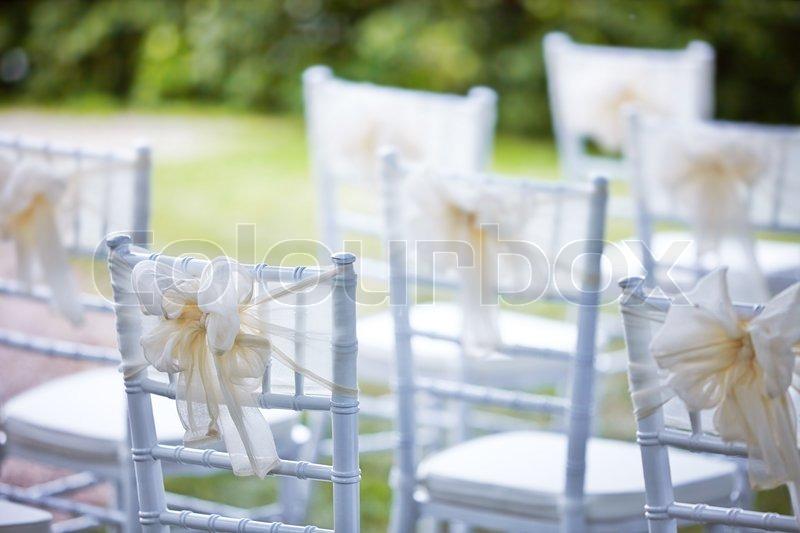 Dekorative Hochzeit Stuhle Stockfoto Colourbox