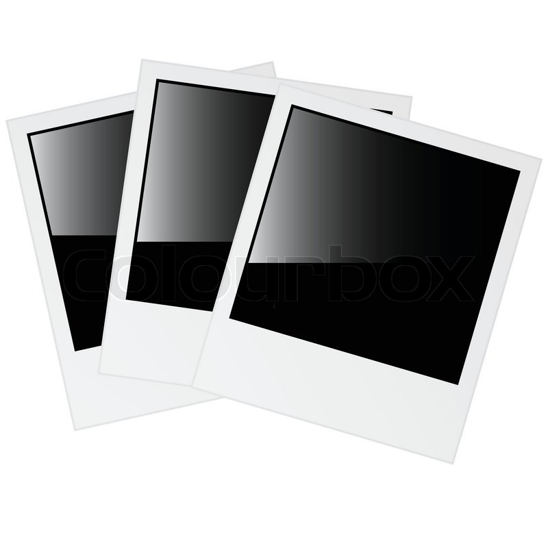 polaroid foto rahmen vektorgrafik colourbox. Black Bedroom Furniture Sets. Home Design Ideas