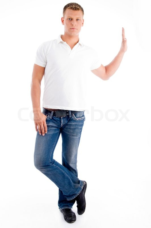 Stylish standing pose of man | Stock Photo | Colourbox