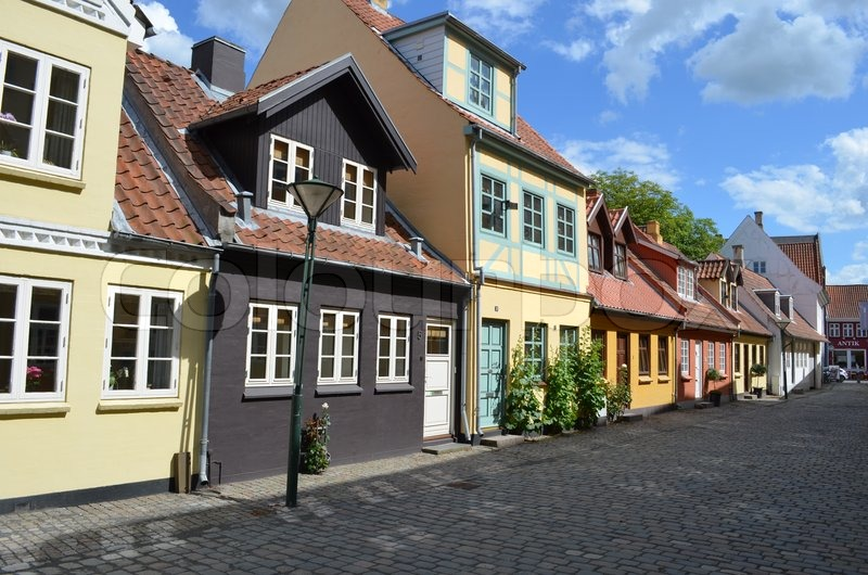 Excellent A Line Of Colourful Old Town Houses In Stock Image Download Free Architecture Designs Scobabritishbridgeorg